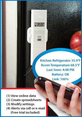 Online Temperature and Humidity Wireless Alert System