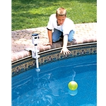 PoolEye Inground Pool Alarm System w/ Temperature Monitor and Remote Receiver PE21