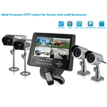 "SecurityMan LCDDVR4 COMPLETE 4-CAMERA CCTV SYSTEM - 2 INDOOR & 2 OUTDOOR CAMERAS & 10.2"" LCD/DVR COMBO"