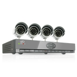 SVAT Smart Phone Compatible DVR Security System with 4 Night Vision Cameras
