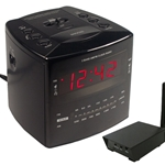 SLEUTHGEAR C12457 Covert Digital Wireless Alarm Clock w/RCA Receiver