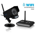 Securityman Digital Wireless Outdoor/Indoor Cam w/ motion sensor, 2 way audio, & SD DVR receiver