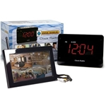 KJB Security Sleuthgear Zone Shield Wireless C1521 Night Vision Clock Radio QUAD