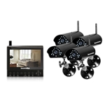Securityman Four Digital Wireless Cameras LCDDVR (SD) System -4x Digital Wireless Outdoor/Indoor