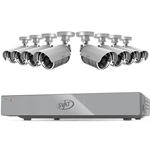 16CH Smart Security DVR with 8 Hi-res Outdoor Surveillance Cameras