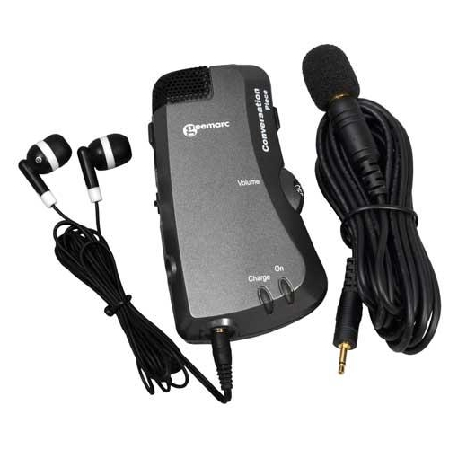 Geemarc Amplified Hearing Assistant w/ T-Coil & Extension Microphone