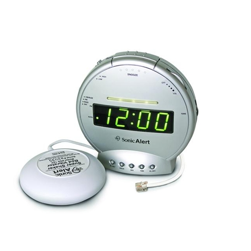 Sonic Boom Alarm Clock w/ Bed Shaker & Phone Signaler
