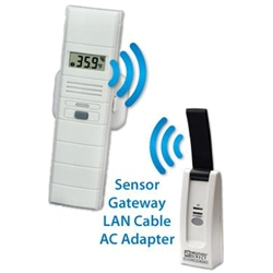 Online Temperature and Humidity Wireless Alert System with Wet Probe