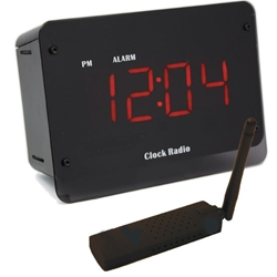 SleuthGear C12407 Digital Alarm Clock with USB Reciever & Remote View