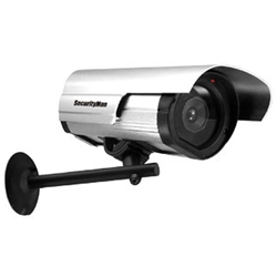SecurityMan dummy camera deters intruders at a fraction of the cost of real cameras.