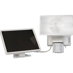 Maxsa Innovations 40110 Solar-Powered 30 Watt Halogen Security Floodlight