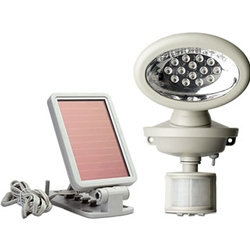The Maxsa Innovations 40217 solar-powered security spotlight has 14 super-bright LEDs.