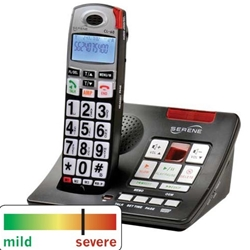 CL60A Amplified Talking CID Cordless Phone W/ Slow-Play, Amplified Answering Machine