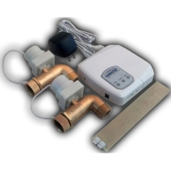 The Floodstop automatic water shutoff valve prevents damage caused by a washing machine flood