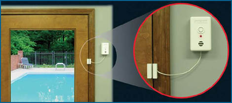 Poolguard Door Alarm With Wireless Passthrough No Delay