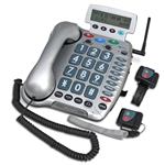 Geemarc Ampli600 Amplified Emergency Connect Phone w/ Two Transmitters