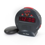 Sonic Alert SBJ525ss Sonic Bomb Jr Alarm Clock with Bed Shaker