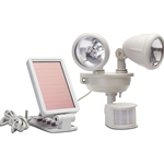 Maxsa Innovations Solar-Powered Dual Head LED Security Spotlight