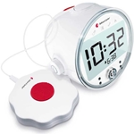 Bellman Alarm Clock Visit Vibrating Clock with LED and Reciever