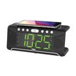 "Naxa Dual Alarm Clock with Qi® Wireless Charging (1.8"" Jumbo Display)"