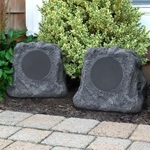 Innovative Technology Rechargeable Bluetooth Outdoor Wireless Rock Speakers, Pair