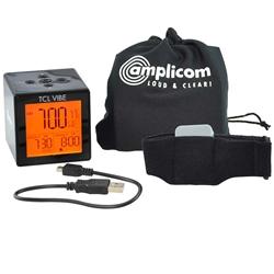 Amplicom TCL Vibe Digital Dual Alarm Clock with Vibrating Wristband