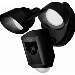 Ring HD Security Camera with Floodlights and Siren Alarm