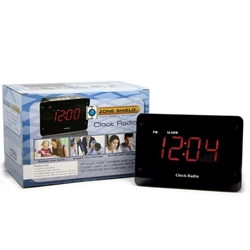 Zone Shield 4K Night Vision Clock Radio DVR