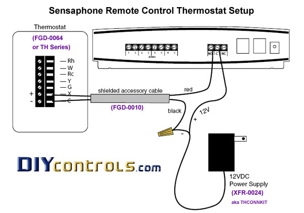 diycontrols   p6030xfr0024thconnkitconnectionkitforsensaphoneaubethermostats on trane compressor wiring diagram